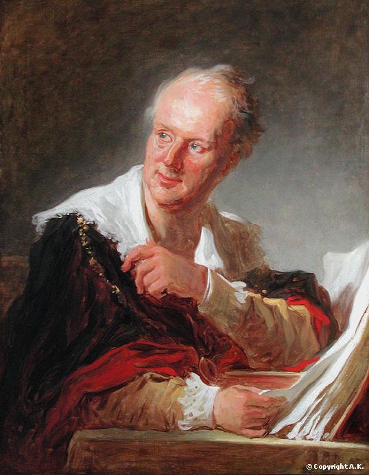 Jean-Honoré Fragonard: Denis Diderot, Louvre