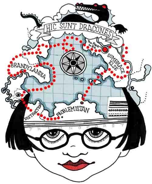 mental map cartoon