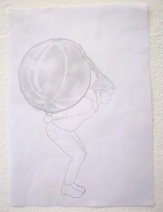 ball hair drawing 01