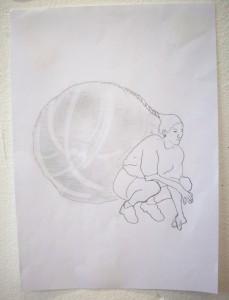 ball hair drawing 02