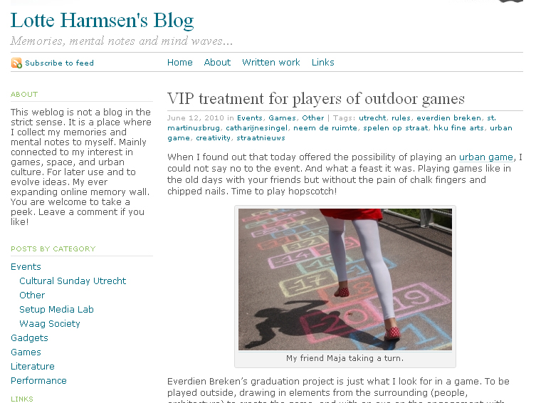 Lotte Harmsen's blog