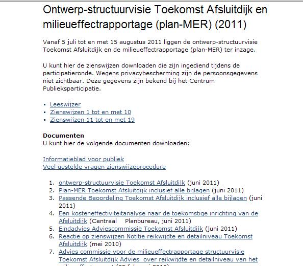 MER Afsluitdijk