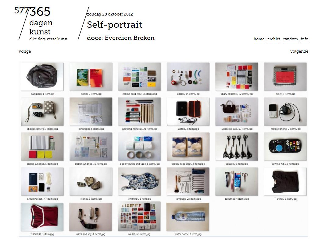 zelfportret voor 365dagenkunst