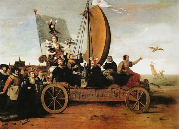 Flora's Malle-wagen van Hendrik Pot