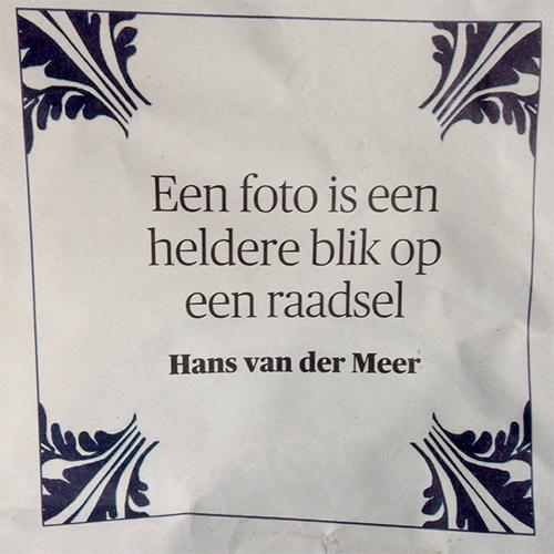 Hans van der Meer tegel